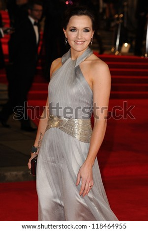 Victoria Pendleton arriving for the Royal World Premiere of 'Skyfall' at Royal Albert Hall, London. 23/10/2012 - stock photo