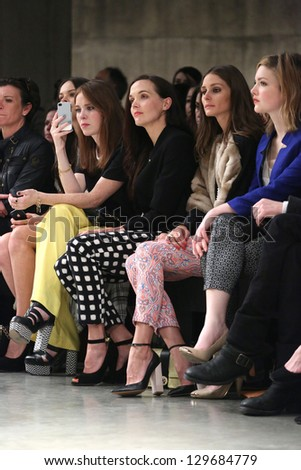 Victoria Pendleton, Olivia Palermo, Holly Grainger at the Unique show as part of London Fashion Week AW13, Tate Modern, London. 17/02/2013 Picture by: Henry Harris - stock photo