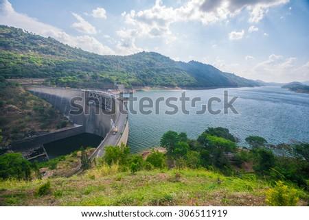 Victoria reservoir in Kandy, Sri Lanka - stock photo