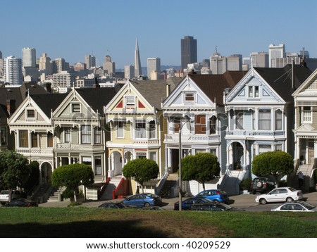 Victorian architecture style in San Francisco. USA