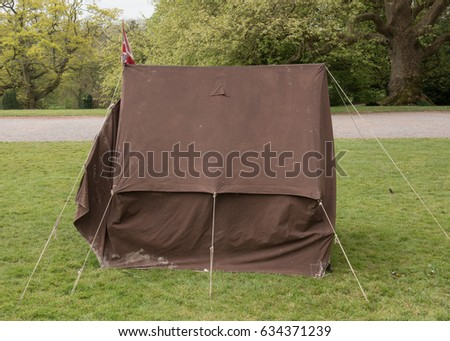 Victorian C&aign Tent with a Union Jack Flag on Top in a Garden in Rural Somerset & Flap Jacks Stock Images Royalty-Free Images u0026 Vectors | Shutterstock