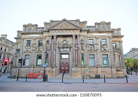 Victorian Commercial Building, Halifax, Calderdale, West Yorkshire, England, UK - stock photo