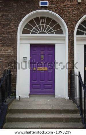 Victorian Door, Dublin, Ireland - stock photo