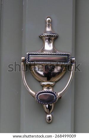 victorian door opener - stock photo