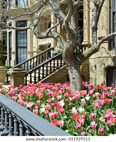Victorian garden detail - stock photo
