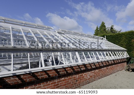 Victorian greenhouse at Erddig Hall in Wrexham Wales UK