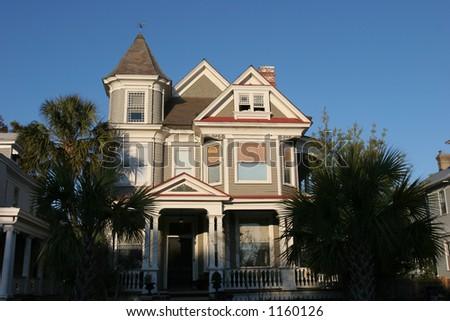 Victorian House Architecture - stock photo