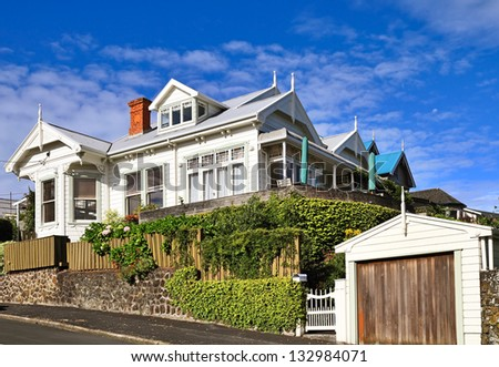 Victorian house in Auckland, New Zealand. - stock photo