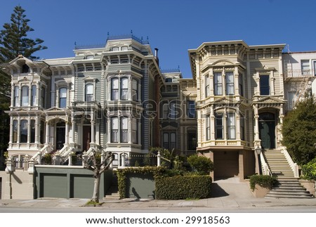 Victorian Houses 02 - stock photo