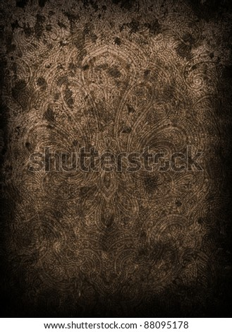 Victorian Paisley Abstract Background