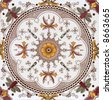 Victorian period decorative arts printed symmetrical - stock photo