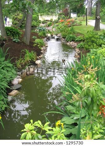 Victorian Public Gardens Halifax - stock photo