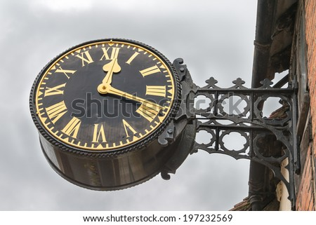 Victorian style English village clock