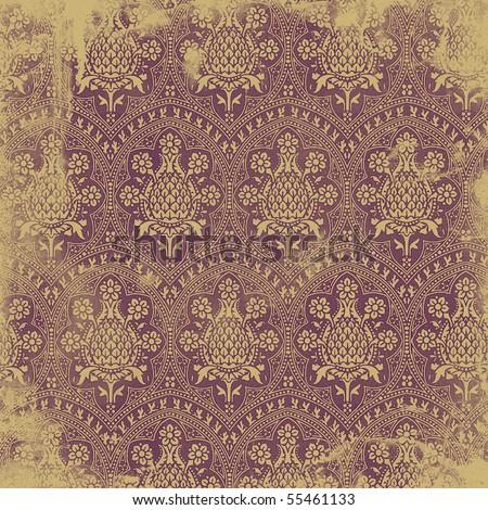 Victorian wallpaper - stock photo