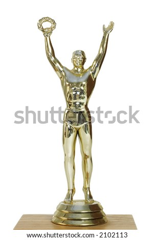 Victorious Trophy - stock photo