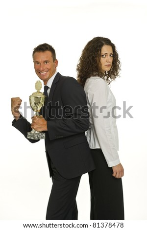 Victory and defeat - stock photo