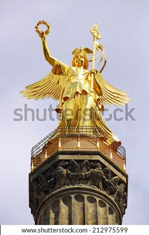 Victory Column (Siegessaule), Berlin, Germany - stock photo