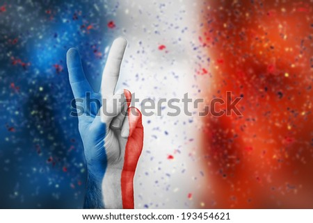 victory for France - stock photo
