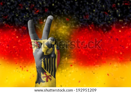 victory for Germany - stock photo