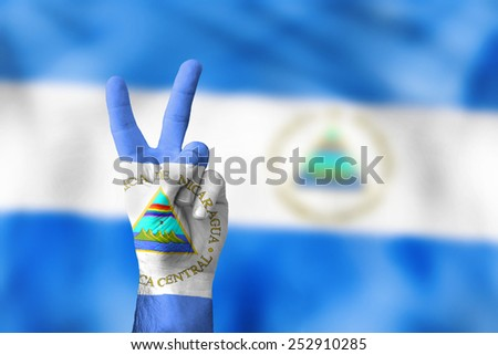 victory for Nicaragua - stock photo