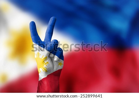 victory for Philippines - stock photo