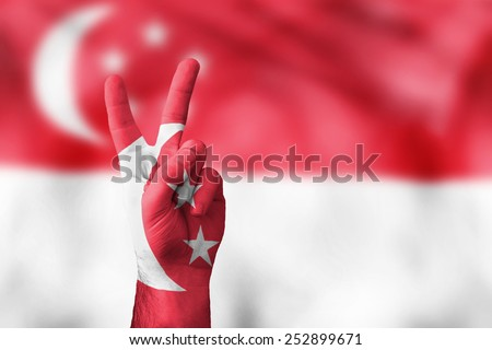 victory for Singapore - stock photo