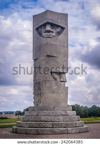 Victory monument on the battlefield of Poland - stock photo