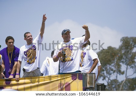 Victory parade for 2009 NBA Champion Los Angeles Lakers, June 16, 2009