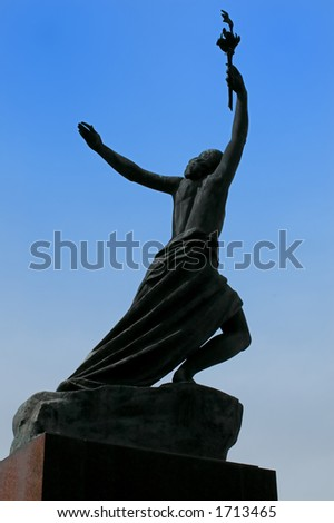 Victory statue - stock photo