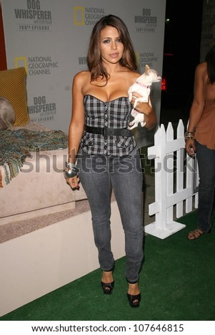 Vida Guerra  at the party to celebrate the 100th Episode of 'Dog Whisperer'. Boulevard 3, Hollywood, CA. 09-17-08 - stock photo
