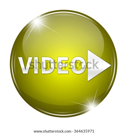 video button isolated  - stock photo
