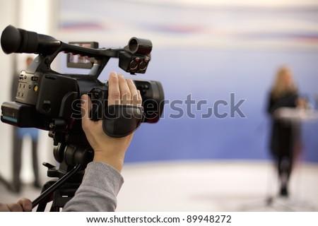 Video camera - stock photo