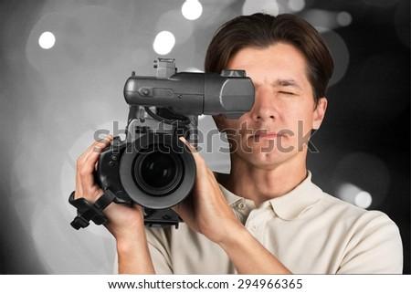 Video, camera, film. - stock photo