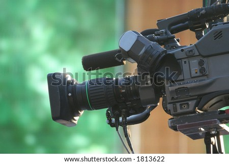 video camera for news tv broadcasting - stock photo
