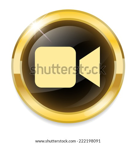 Video camera icon - stock photo