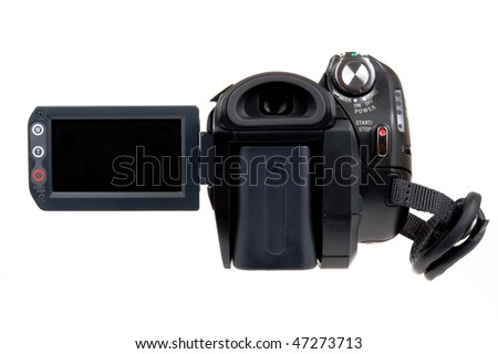 Video camera screen