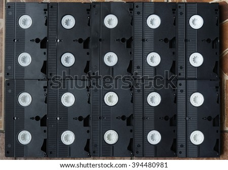 video cassettes - stock photo