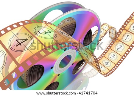 Video CD . Conceptual 3d rendered illustration - stock photo