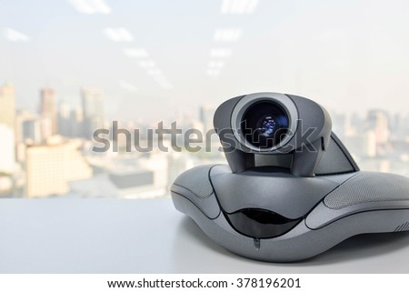 Video Conference Device - stock photo