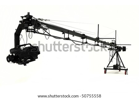 video crane in studio
