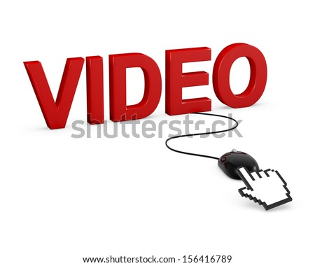 Video 3D click mouse render - stock photo