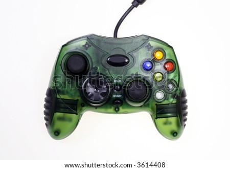 Video game controller - green - stock photo