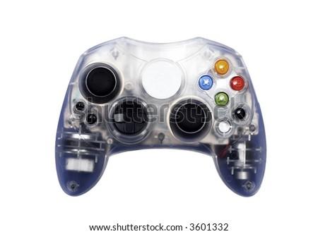 Video game controller - white - stock photo