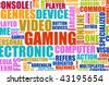 Video Games Entertainment Abstract as a Art - stock vector