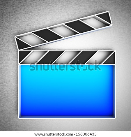 Video icon. Clapperboard. - stock photo