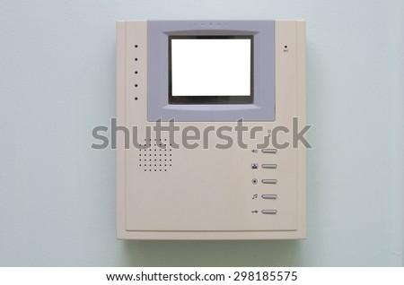 video intercom equipment - stock photo