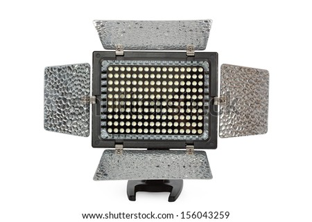 Video lighting LED, isolated on white  background, with clipping path - stock photo