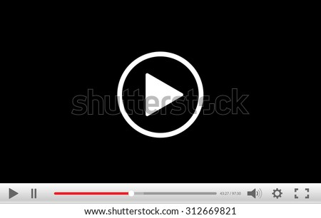 Video player - stock photo