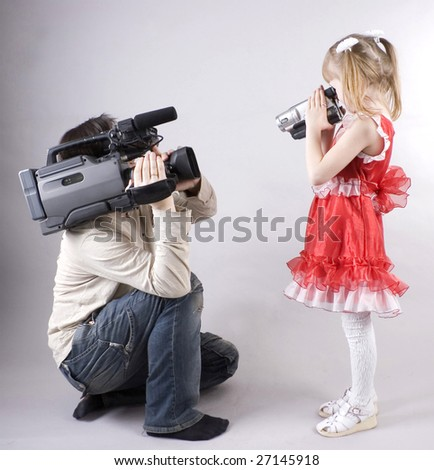 video shooting - stock photo