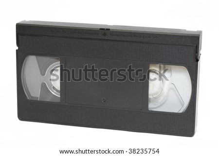 video tape , front view isolated on white - stock photo
